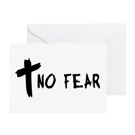 No Fear Cross Greeting Card