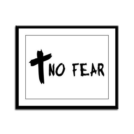 No Fear Cross Framed Panel Print