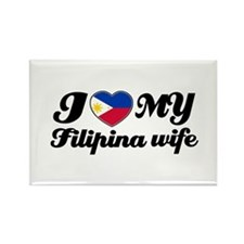 I love my Filipina wife Rectangle Magnet (100 pack