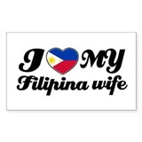 I love my Filipina wife Rectangle Decal