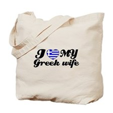 I love my Greek wife Tote Bag