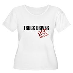 Off Duty Truck Driver Women's Plus Size Scoop Neck