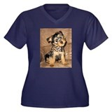 SILKY terrier Dog - Women's Plus Size V-Neck Dark