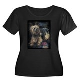 SILKY terrier Dog - Women's Plus Size Scoop Neck D