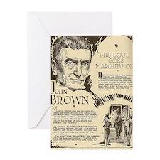 Cute John brown Greeting Card