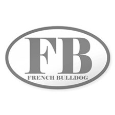 FB Abbreviation French Bulldog Decal