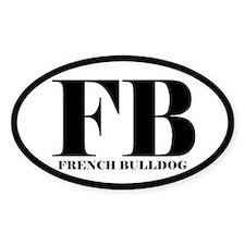 FB Abbreviation French Bulldog Decal