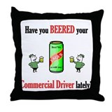 Commercial Driver Throw Pillow