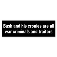 WAR CRIMINALS Bumper Bumper Sticker