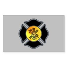 Fire Dept Rectangle Decal