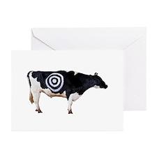 BULLSEYE COW Greeting Cards (Pk of 10
