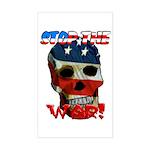Anti War Rectangle Sticker