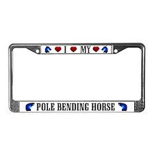 Pole Bending Horse License Plate Frame