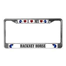 Hackney Horse License Plate Frame