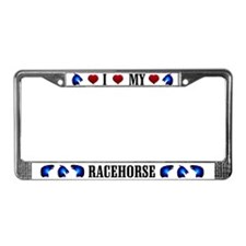 Racehorse License Plate Frame