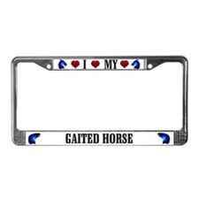Gaited Horse License Plate Frame