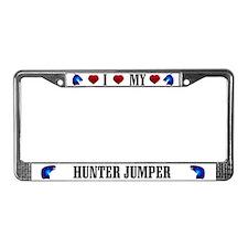 Hunter Jumper Horse License Plate Frame