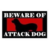 Beware of Attack Dog Fila Brasileiro Decal