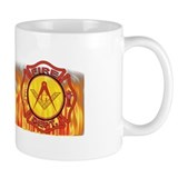 Firey Fire Dept. Masonic Small Mug
