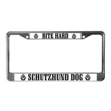 Bite Hard Schutzhund License Plate Frame