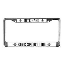 Bite Hard Ring Sport License Plate Frame