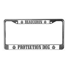 Beauceron Protection Dog License Plate Frame