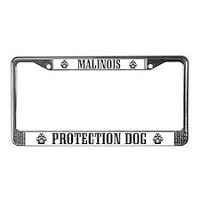 Malinois Protection Dog License Plate Frame