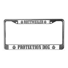 Rottweiler Protection Dog License Plate Frame