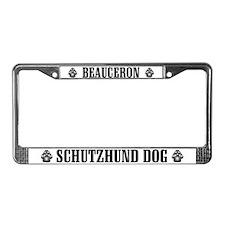 Beauceron Schutzhund License Plate Frame