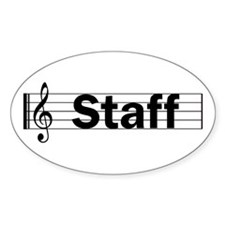 Music Staff Oval Decal