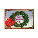 Canadian Christmas Rectangle Magnet (100 pack)