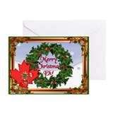 Christmas Greetings from Canada Greeting Cards (Pk