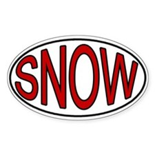 Snow Oval Decal