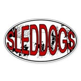 Sleddog Oval Decal