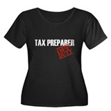 Off Duty Tax Preparer Women's Plus Size Scoop Neck