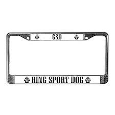 GSD Ring Sport License Plate Frame