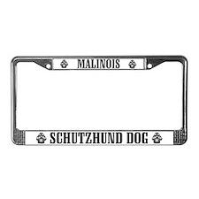 Malinois Schutzhund Dog License Plate Frame