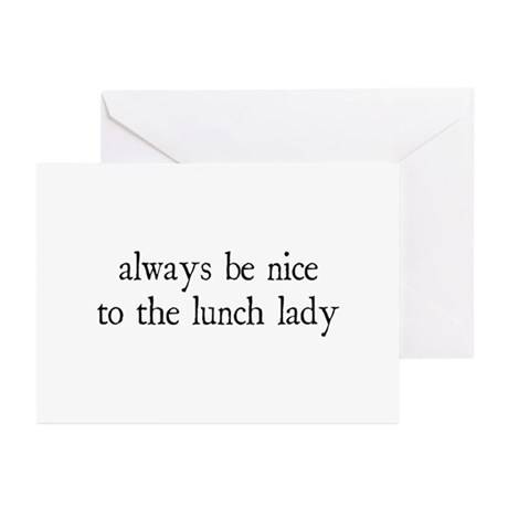 Lunch Lady Greeting Cards (Pk of 10)