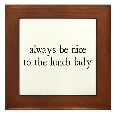 Lunch Lady Framed Tile