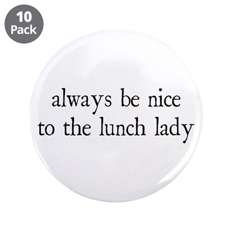 "Lunch Lady 3.5"" Button (10 pack)"