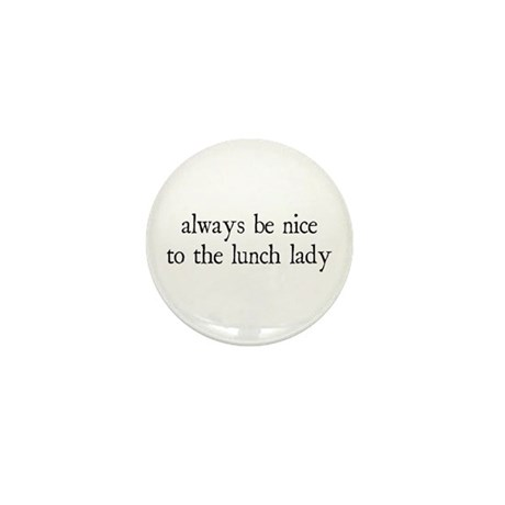 Lunch Lady Mini Button