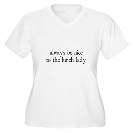 Lunch Lady Women's Plus Size V-Neck T-Shirt