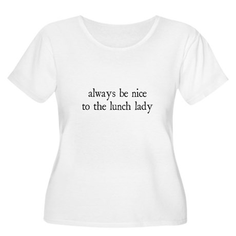 Lunch Lady Women's Plus Size Scoop Neck T-Shirt