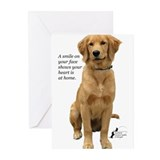 Smiling Golden Retriever Greeting Cards (Pk of 20)