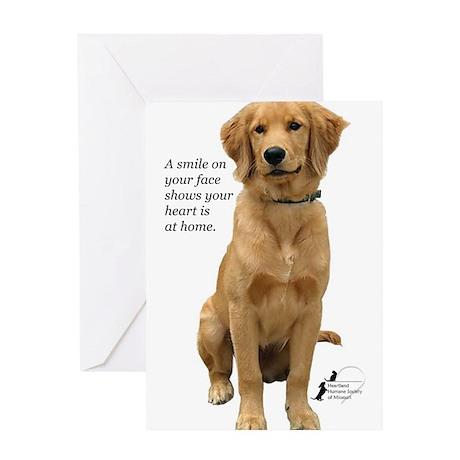 Smiling Golden Retriever Greeting Card