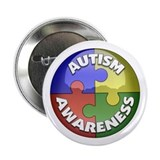 "Autism Awareness Jewel 2.25"" Button"