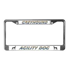 Greyhound Agility License Plate Frame