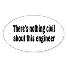 Civil Engineer Oval Decal