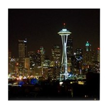 Seattle at Night Tile Coaster