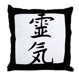 Reiki Kanji Throw Pillow